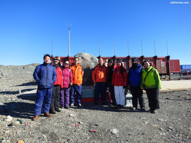Team China with members of the 29th Chinese National Antarctic Research Expedition